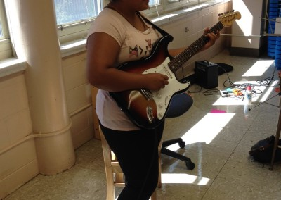 Payton participates in band practice at GR!C, Summer 2015